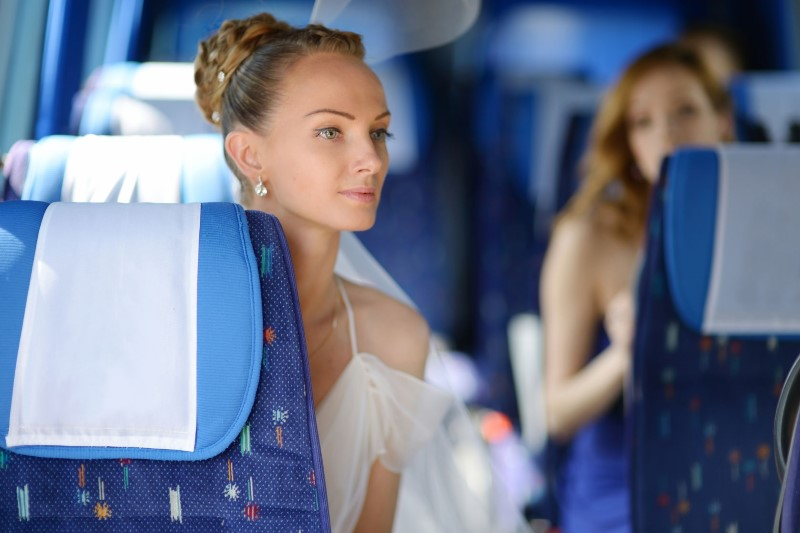 Bride on Coach